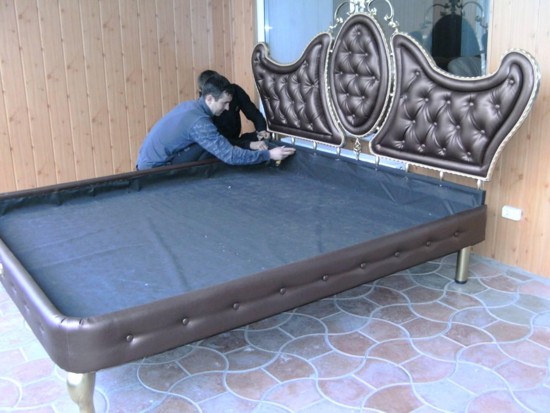Как сделать металлическую кровать своими руками фото